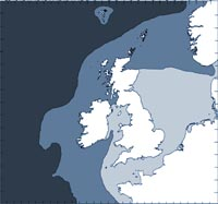 Northern bottlenose whale distribution map