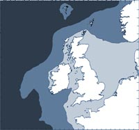 Fin whale distribution map