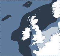Minke whale distribution map