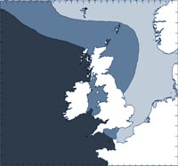 Common dolphin distribution map